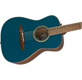 Fender Malibu Classic Electro Acoustic Guitar & Case, Cosmic Turquoise