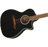 Fender Newporter Special, Matte Black Electro Acoustic Guitar & Case