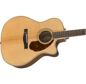 Fender Paramount PM-4CE Auditorium Limited, Natural Electro Acoustic Guitar