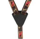 Fender Ukulele Strap, Black/Yellow/Red
