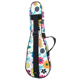 Tom and Will Soprano Ukulele Gig Bag - In Flowers Fabric 5mm