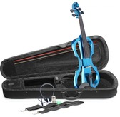 Stagg EVN X 4/4 Electric Violin Outfit in Metallic Blue Including Headphones