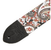 "Fender 2"" Paisley Denim Strap, Red"