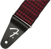 Fender Houndstooth Jacquard Strap, Red
