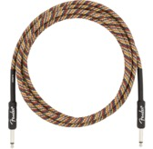 Fender 10' Festival Instrument Cable, Pure Hemp, Rainbow
