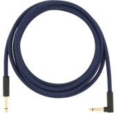 Fender 10' Angled Festival Instrument Cable, Pure Hemp, Blue Dream