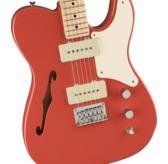 Fender Squier Paranormal Cabronita Telecaster Thinline, Fiesta Red, Maple