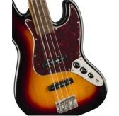 Fender Squier Classic Vibe '60s Jazz Bass Fretless, 3-Colour Sunburst, Laurel