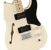 Fender Squier Paranormal Carbronita Telecaster Thinline, Olympic White, Maple