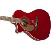 Fender Newporter Player Left-Handed Electro Acoustic Guitar, Candy Apple Red