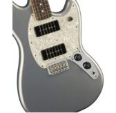 Fender Mustang 90, Silver, Pau Ferro