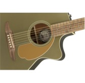 Fender Newporter Player Electro Acoustic Guitar, Olive Satin