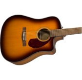 Fender CD-140SCE Dreadnought Electro Acoustic Guitar & Hard Case, Sunburst