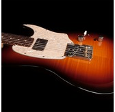 Godin Stadium '59 - Vintage Burst Flame Rosewood Neck Electric Guitar & Case