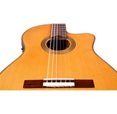 Cordoba Fusion 12 Natural Cedar Electro Classical Nylon Guitar & Case