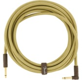 Fender Deluxe Series Instrument Cable, Straight/Angle, 18.6', Tweed