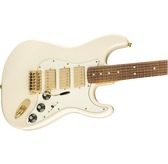 Fender Limited Edition Mahogany Blacktop Strat, Olympic White, Gold Hardware