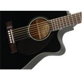 Fender CC-60SCE Electro Acoustic Guitar, Black, Walnut