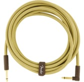 Fender Deluxe Series Instrument Cable, Straight/Angle, 15', Tweed