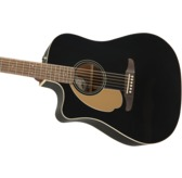 Fender Redondo Player Left-Handed Electro Acoustic Guitar, Jetty Black