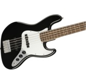 Fender Squier Affinity Series Jazz Bass V, Black, Laurel