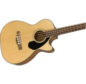 Fender CB-60SCE Electro Acoustic Bass Guitar, Natural, Laurel