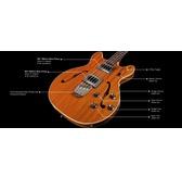 Guild Newark St. Starfire Bass II Electric Bass Guitar, Natural