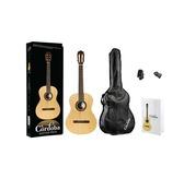 Cordoba Protege CP100 Classical Nylon Guitar, Bag, Digital Tuner, Picks & Book