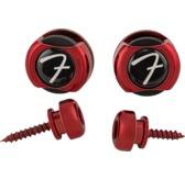 Fender Infinity 'F' Strap Locks, Red