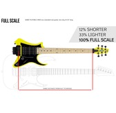 Traveler Guitar Vaibrant Standard V88S Electric Travel Guitar, Electric Yellow