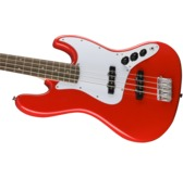 Fender Squier Affinity Series Jazz Bass, Race Red, Laurel