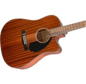 Fender CD-60SCE Dreadnought Electric Acoustic Guitar, All-Mahogany, Walnut
