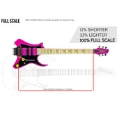 Traveler Guitar Vaibrant Deluxe V88X Electric Travel Guitar, Hot Pink