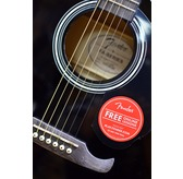 Fender FA-125CE Dreadnought, Black Electro Acoustic Guitar