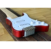 Traveler Guitar Travelcaster Deluxe Electric Travel Guitar, Candy Apple Red
