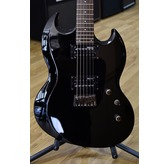 ESP LTD VIPER-200B Black Baritone Electric Guitar
